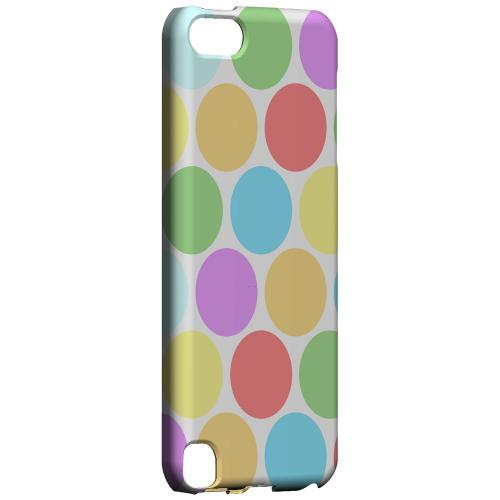 Geeks Designer Line (GDL) Slim Hard Case for Apple iPod Touch 5 - Big & Rainbow on White