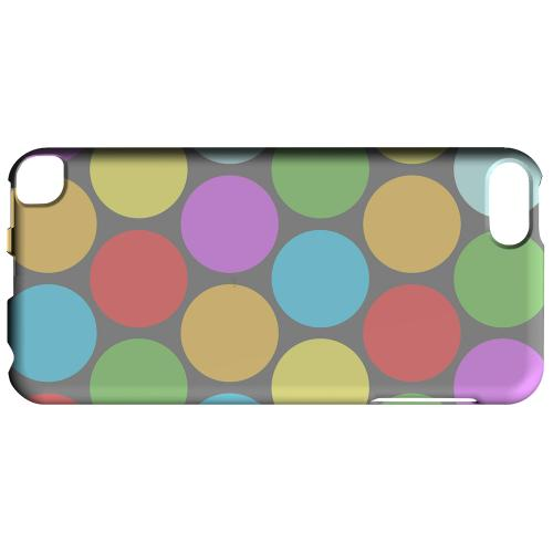 Geeks Designer Line (GDL) Slim Hard Case for Apple iPod Touch 5 - Big & Rainbow on Gray