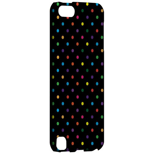 Geeks Designer Line (GDL) Slim Hard Case for Apple iPod Touch 5 - Small & Rainbow on Black