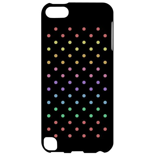 Geeks Designer Line (GDL) Slim Hard Case for Apple iPod Touch 5 - Rainbow Dots on Black
