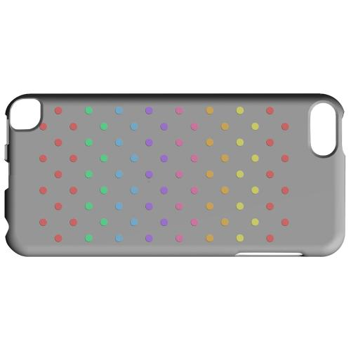 Geeks Designer Line (GDL) Slim Hard Case for Apple iPod Touch 5 - Rainbow Dots on Gray