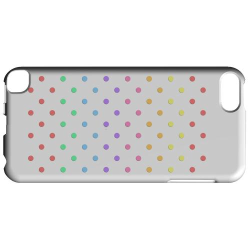Geeks Designer Line (GDL) Slim Hard Case for Apple iPod Touch 5 - Rainbow Dots on White