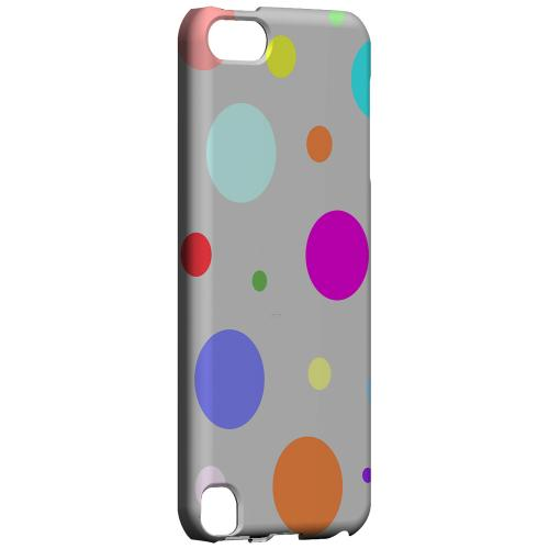 Geeks Designer Line (GDL) Slim Hard Case for Apple iPod Touch 5 - Random & Rainbow on Gray