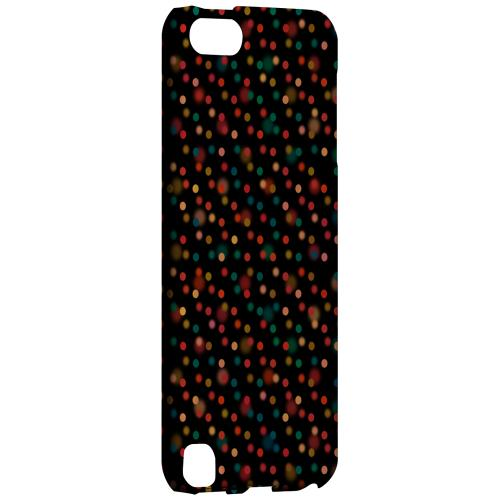 Geeks Designer Line (GDL) Slim Hard Case for Apple iPod Touch 5 - Faded Rainbow Dots on Black