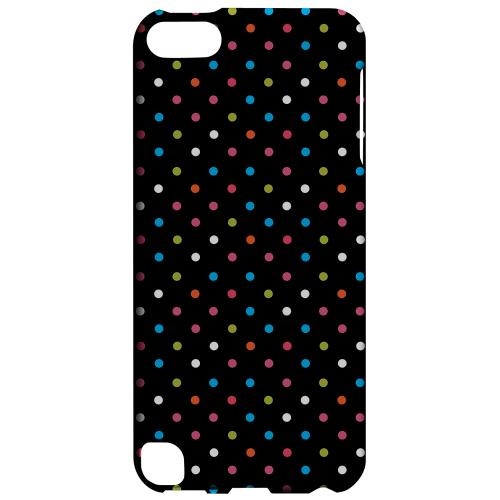 Geeks Designer Line (GDL) Slim Hard Case for Apple iPod Touch 5 - Retro Rainbow Dots on Black