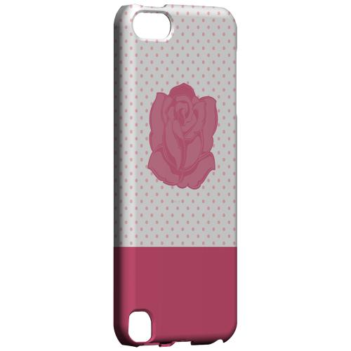Geeks Designer Line (GDL) Slim Hard Case for Apple iPod Touch 5 - Pink Rose on White