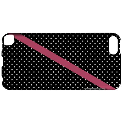 Geeks Designer Line (GDL) Slim Hard Case for Apple iPod Touch 5 - Pink Diagonal Stripe