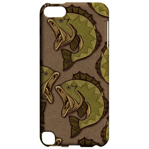 Geeks Designer Line (GDL) Slim Hard Case for Apple iPod Touch 5 - Large Mouth Bass Design