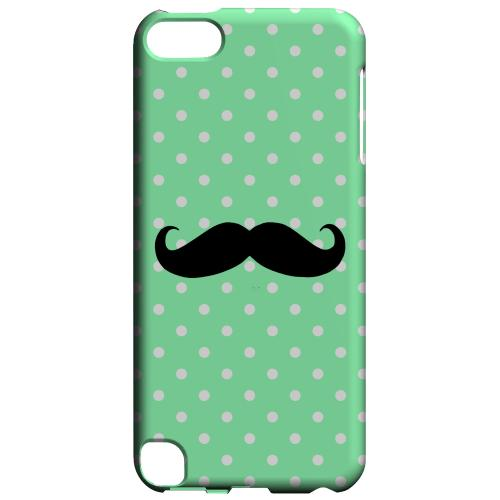Geeks Designer Line (GDL) Slim Hard Case for Apple iPod Touch 5 - Stache on Mint