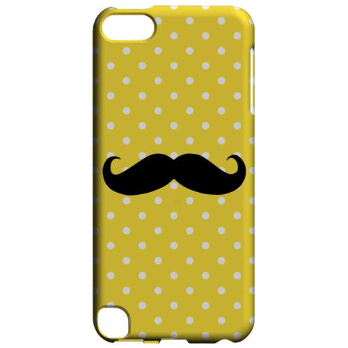 Geeks Designer Line (GDL) Slim Hard Case for Apple iPod Touch 5 - Stache on Yellow