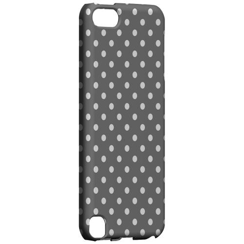 Geeks Designer Line (GDL) Slim Hard Case for Apple iPod Touch 5 - White Dots on Gray