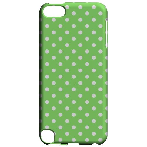 Geeks Designer Line (GDL) Slim Hard Case for Apple iPod Touch 5 - White Dots on Green