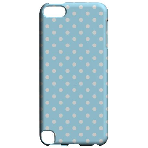 Geeks Designer Line (GDL) Slim Hard Case for Apple iPod Touch 5 - White Dots on Sky Blue