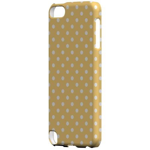 Geeks Designer Line (GDL) Slim Hard Case for Apple iPod Touch 5 - White Dots on Orange