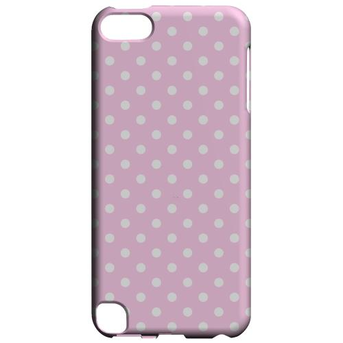 Geeks Designer Line (GDL) Slim Hard Case for Apple iPod Touch 5 - White Dots on Baby Pink