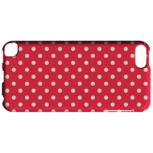 Geeks Designer Line (GDL) Slim Hard Case for Apple iPod Touch 5 - White Dots on Red