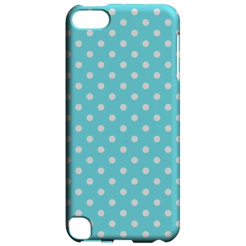 Geeks Designer Line (GDL) Slim Hard Case for Apple iPod Touch 5 - White Dots on Turquoise