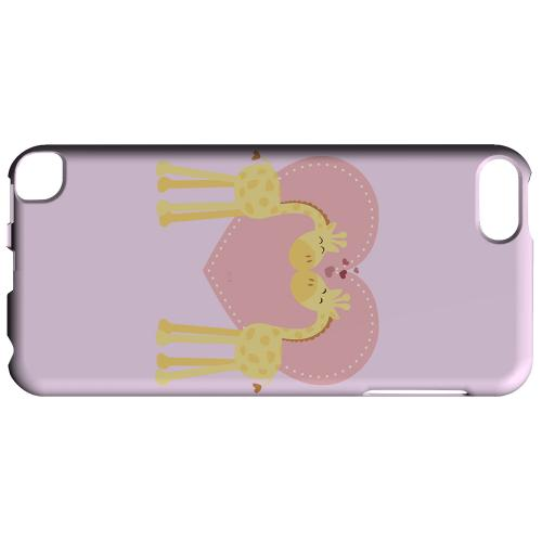 Geeks Designer Line (GDL) Slim Hard Case for Apple iPod Touch 5 - Giraffe Love on Baby Pink