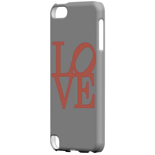 Geeks Designer Line (GDL) Slim Hard Case for Apple iPod Touch 5 - Pink Love on Gray