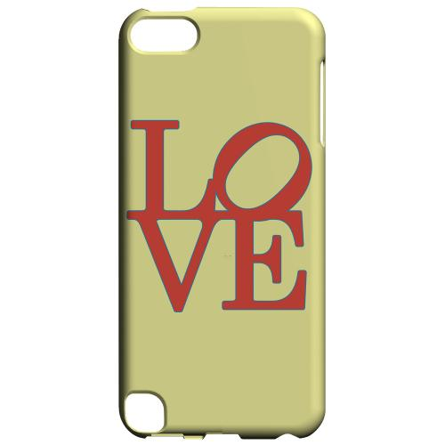 Geeks Designer Line (GDL) Slim Hard Case for Apple iPod Touch 5 - Red Love on Yellow