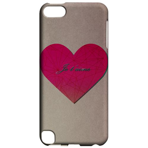 Geeks Designer Line (GDL) Slim Hard Case for Apple iPod Touch 5 - Je t'aime