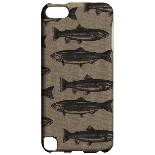 Geeks Designer Line (GDL) Slim Hard Case for Apple iPod Touch 5 - Vintage Salmon & Trout Print