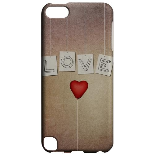 Geeks Designer Line (GDL) Slim Hard Case for Apple iPod Touch 5 - Love & Heart Balloon