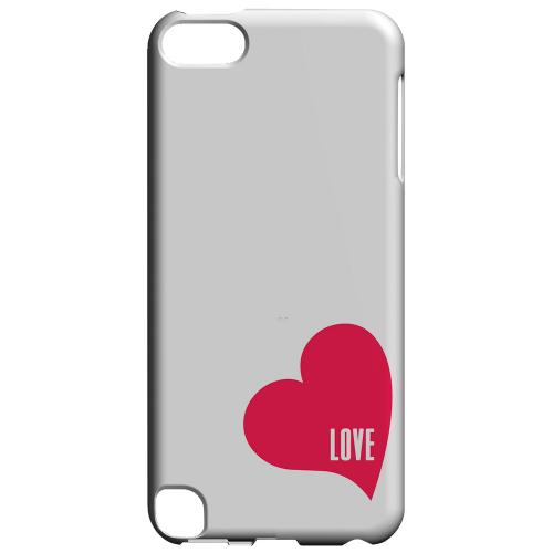Geeks Designer Line (GDL) Slim Hard Case for Apple iPod Touch 5 - Love Heart