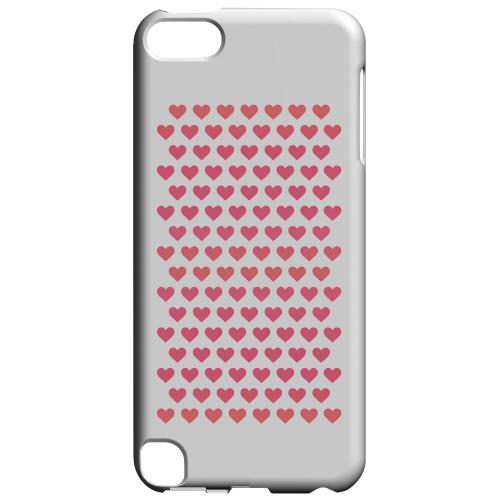Geeks Designer Line (GDL) Slim Hard Case for Apple iPod Touch 5 - Miniature Hearts