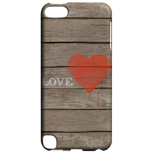 Geeks Designer Line (GDL) Slim Hard Case for Apple iPod Touch 5 - Rustic Love