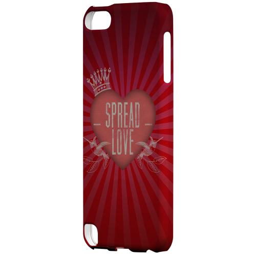 Geeks Designer Line (GDL) Slim Hard Case for Apple iPod Touch 5 - Spread Love