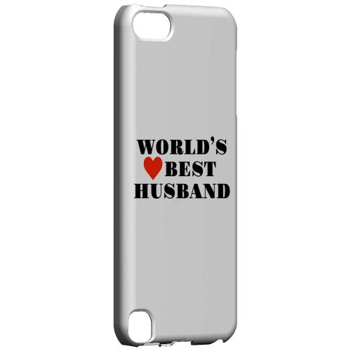 Geeks Designer Line (GDL) Slim Hard Case for Apple iPod Touch 5 - World's Best Husband