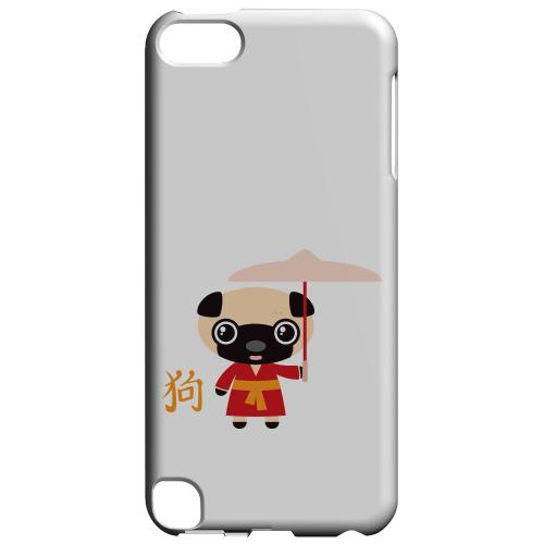 Geeks Designer Line (GDL) Slim Hard Case for Apple iPod Touch 5 - Dog on White