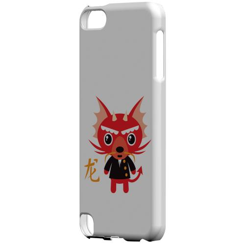 Angry Cartoon Dragon on White Geeks Designer Line (GDL) Slim Hard Case for Apple iPod Touch 5