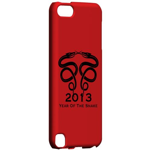 Geeks Designer Line (GDL) Slim Hard Case for Apple iPod Touch 5 - Dual Snake on Red