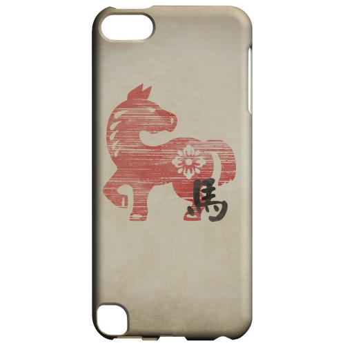 Geeks Designer Line (GDL) Slim Hard Case for Apple iPod Touch 5 - Grunge Horse