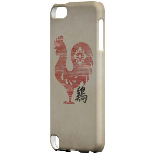 Geeks Designer Line (GDL) Slim Hard Case for Apple iPod Touch 5 - Grunge Rooster
