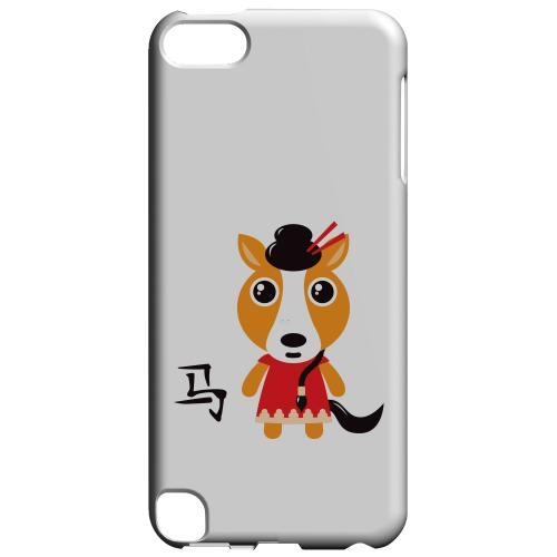 Geeks Designer Line (GDL) Slim Hard Case for Apple iPod Touch 5 - Horse on White