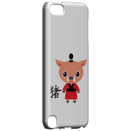 Geeks Designer Line (GDL) Slim Hard Case for Apple iPod Touch 5 - Pig on White