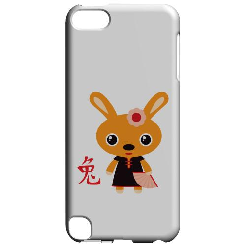 Geeks Designer Line (GDL) Slim Hard Case for Apple iPod Touch 5 - Rabbit on White