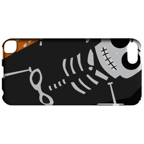 Geeks Designer Line (GDL) Slim Hard Case for Apple iPod Touch 5 - Dancing Skeleton on Black/Orange/Purple