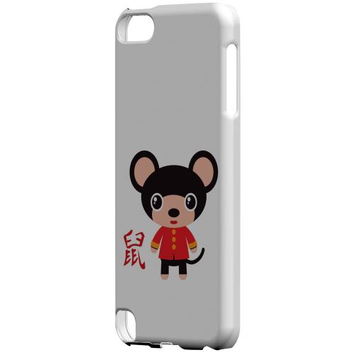 Geeks Designer Line (GDL) Slim Hard Case for Apple iPod Touch 5 - Rat on White