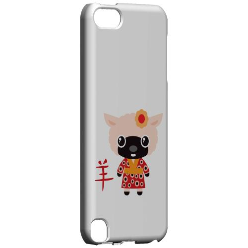Geeks Designer Line (GDL) Slim Hard Case for Apple iPod Touch 5 - Sheep on White