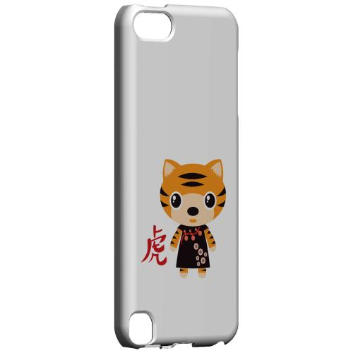 Geeks Designer Line (GDL) Slim Hard Case for Apple iPod Touch 5 - Tiger on White