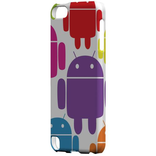 Geeks Designer Line (GDL) Slim Hard Case for Apple iPod Touch 5 - Rainbow Robot Design