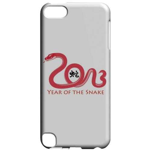 Geeks Designer Line (GDL) Slim Hard Case for Apple iPod Touch 5 - Red Year of the Snake
