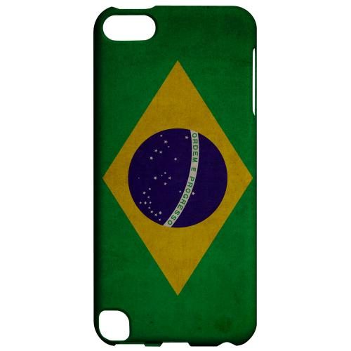 Geeks Designer Line (GDL) Slim Hard Case for Apple iPod Touch 5 - Grunge Brazil