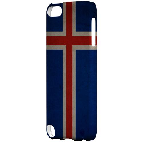 Geeks Designer Line (GDL) Slim Hard Case for Apple iPod Touch 5 - Grunge Iceland