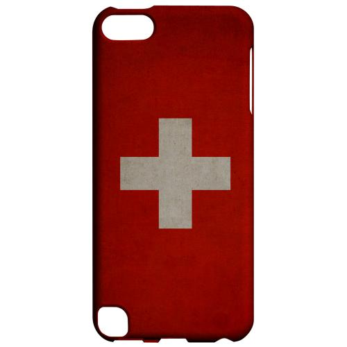 Geeks Designer Line (GDL) Slim Hard Case for Apple iPod Touch 5 - Grunge Switzerland