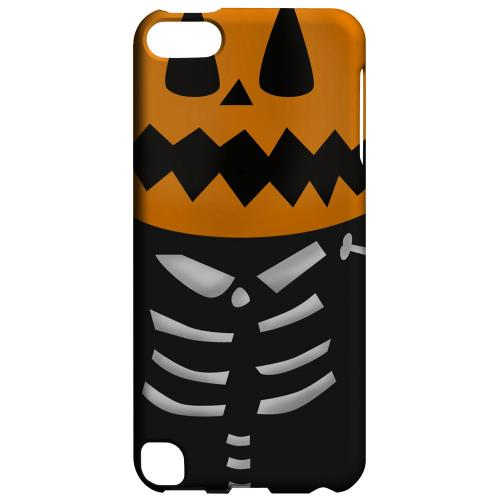 Geeks Designer Line (GDL) Slim Hard Case for Apple iPod Touch 5 - Skelton w/Jack O' Lantern Head